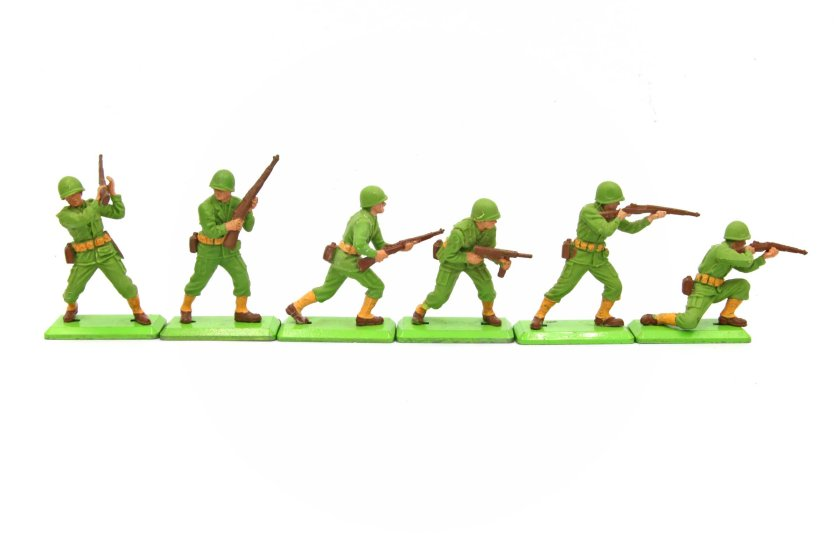 The six figures that make up 7340 US Infantry.